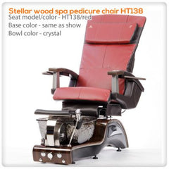 Glass Sink Spas - T4-Stellar Wood Spa Pedicure Chair HT138