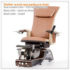 Glass Sink Spas - T4-Stellar Wood Spa Pedicure Chair HTxT4