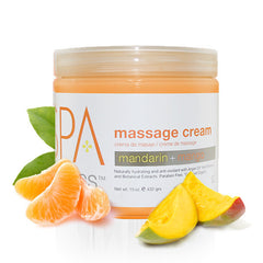 Lotions & Butter - Mandarin + Mango Massage Cream 16 Oz.