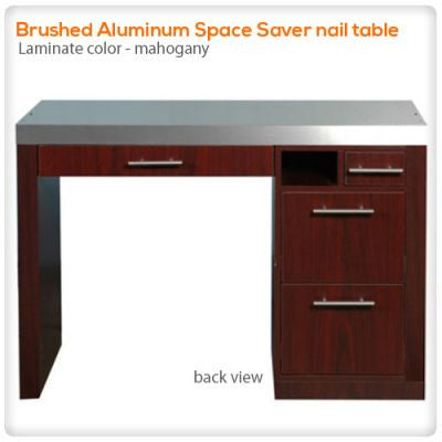 Brushed Aluminum Space Saver nail table