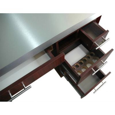 Brushed Aluminum Vented nail table