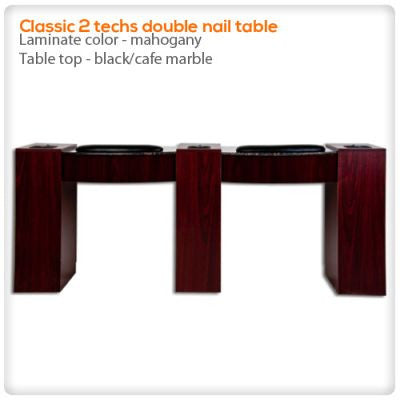 Classic 2 techs double nail table