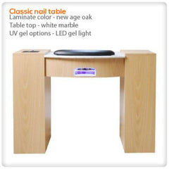 Manicure Nail Tables - Classic Manicure Table With HI-Power LED Light