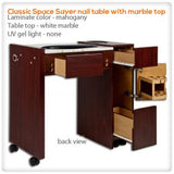 Classic Space Saver nail table with UV Gel Light