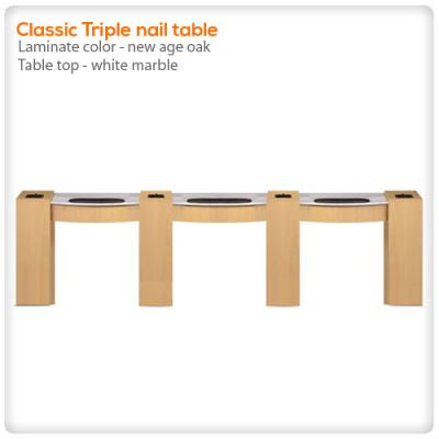 Classic Triple nail table