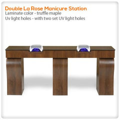 Manicure Nail Tables - Double La Rose Manicure Station