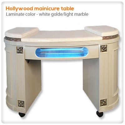 Hollywood manicure table