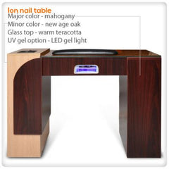 Manicure Nail Tables - Ion LED Light Nail Table