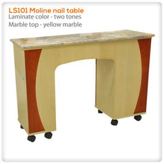 Manicure Nail Tables - LS101 Moline Nail Table