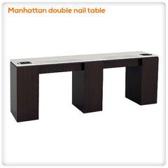 Manicure Nail Tables - Manhattan Double Nail Table