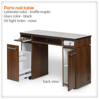 Paris nail table with UV light holes