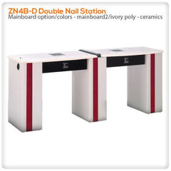 Manicure Nail Tables - ZN4B-D Double Nail Station
