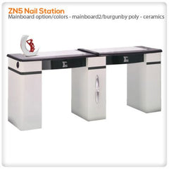 Manicure Nail Tables - ZN5D Double Nail Station