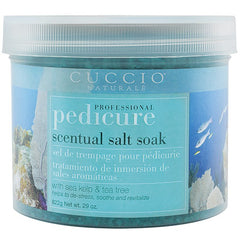 Pedi Salts / Pedi Rocks - Cuccio Naturale Scentual Salt Soak With Sea Kelp & Tea Tree 29 Oz.