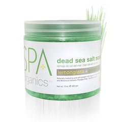 Pedi Salts / Pedi Rocks - Lemongrass + Green Tea Salt Soak 16 Oz