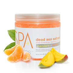 Pedi Salts / Pedi Rocks - Mandarin + Mango Salt Soak 16 Oz.