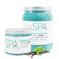 Pedi Salts / Pedi Rocks - Spearmint + Vanilla Salt Soak 16 Oz.