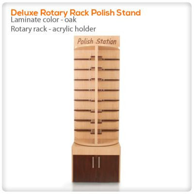 Deluxe Rotary Rack Polish Stand