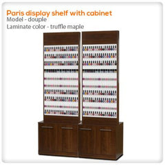 Polish Displays - Paris Display Shelf With Cabinet