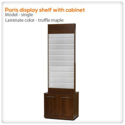Paris display shelf with cabinet