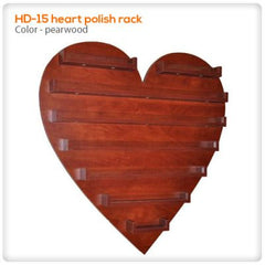 Polish Displays - Rack 15 Heart Shaped Polish Rack