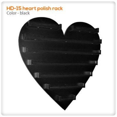 Rack 15 heart shaped polish rack