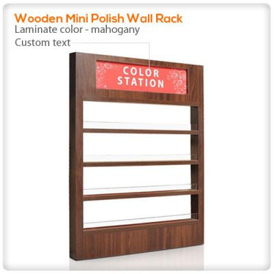 Wooden Mini Polish Wall Rack