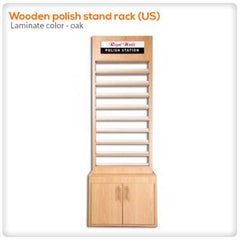 Polish Displays - Wooden Polish Stand Rack