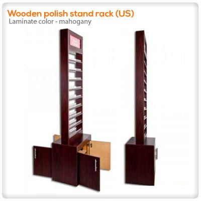 Wooden polish stand rack