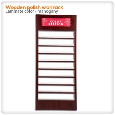Wooden polish wall rack