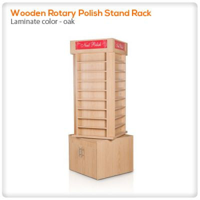 Wooden Rotary Polish Stand Rack