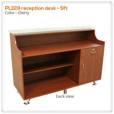 PL1119 reception desk - 5ft