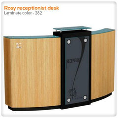 Reception Desks - Rosy Receptionist Desk
