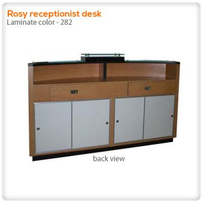 Rosy receptionist desk