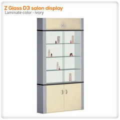 Retail Displays - Z Glass D3 Salon Display