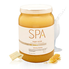 Scrub Gels / Cooling Gels - Milk + Honey With White Chocolate Sugar Scrub 64 Oz.
