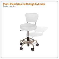 Staff/Customer Chairs - Mani-Pedi Stool With High Cylinder