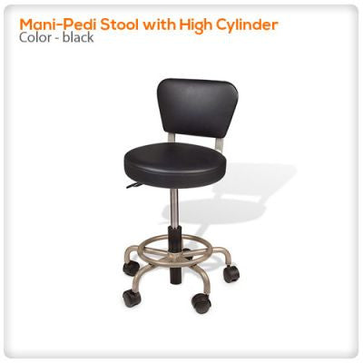 Mani-Pedi Stool with High Cylinder