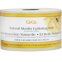"Wax - GiGi Natural Muslin Epilating Roll 3.25"" X 40 Yds."