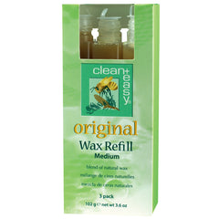 Waxing - Clean+Easy Original Wax Refills Medium 3-pk.
