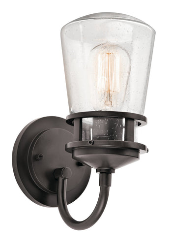 Kichler One Light Outdoor Wall Mount 49444AZ-Exterior-HomePlumbing