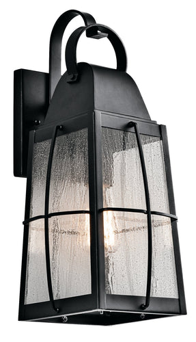 Kichler One Light Outdoor Wall Mount 49553BKT-Exterior-HomePlumbing