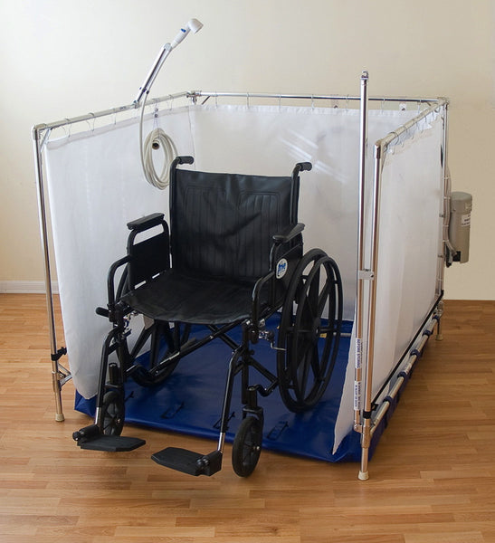 Portable Wheelchair Shower : Fold away wheelchair shower bariatric essential