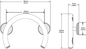Brushed Nickel Safety Grab Bar Ring