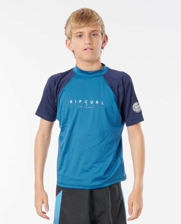 RIP CURL T-SHIRT JUNIOR GARÇONS SHOCKWAVES ANTI-UV - ENFANT