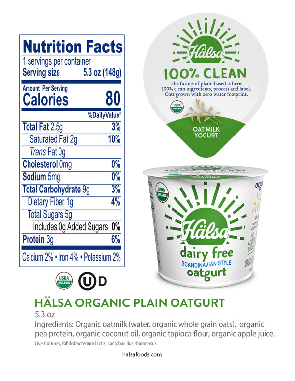 Hälsa Organic Oatmilk Yogurt