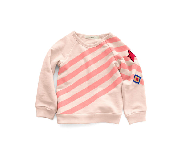 'UNIFORM STRIPE' BASIC SWEATSHIRT