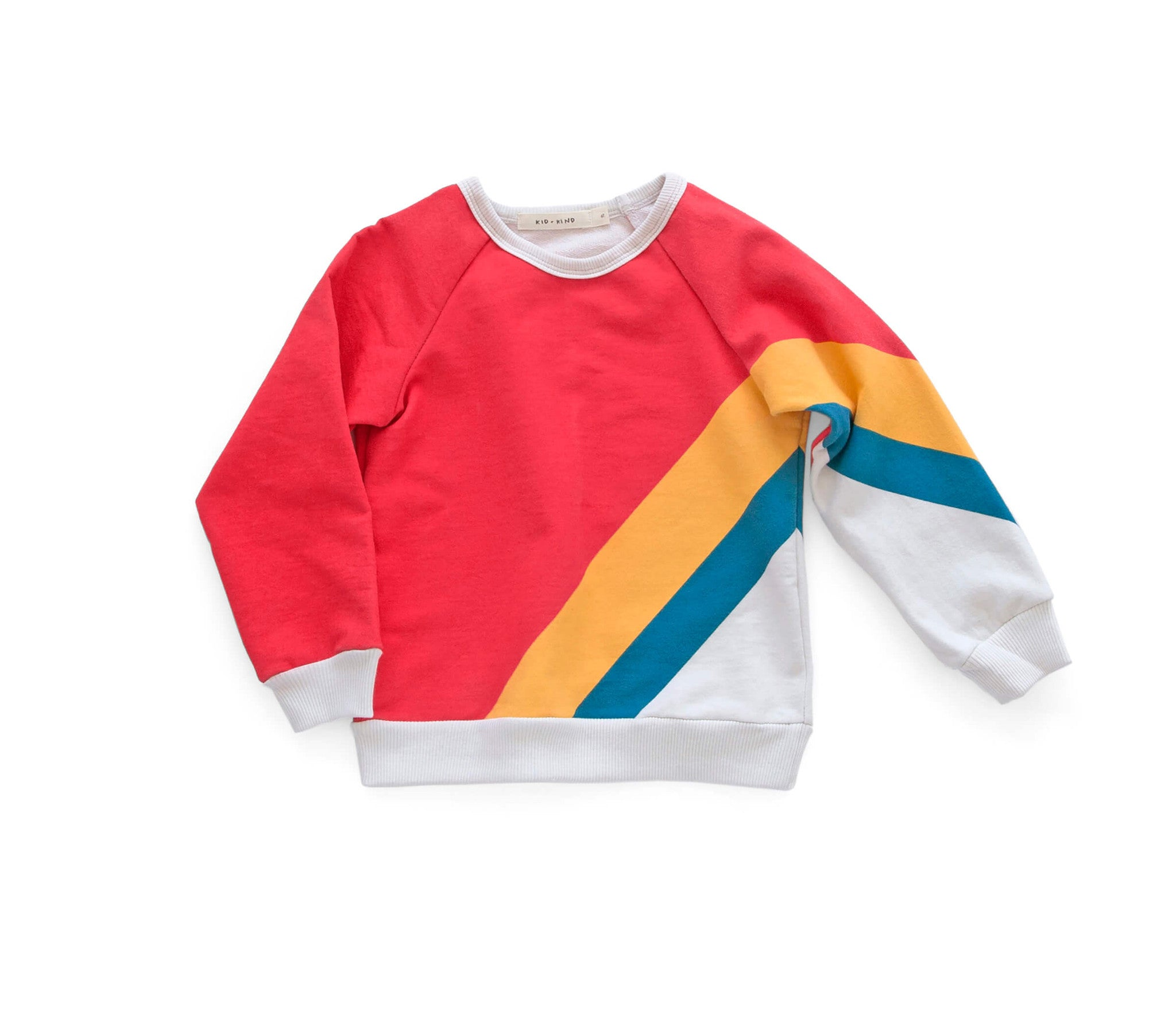 'OLYMPIC STRIPE' BASIC SWEATSHIRT