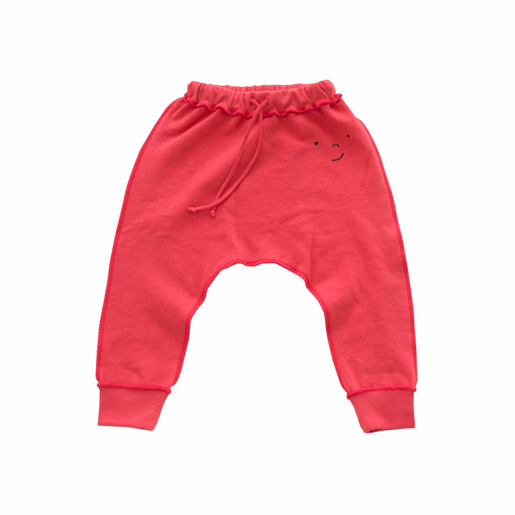 'FRECKLE FACE' FRENCH TERRY PANT (RED)