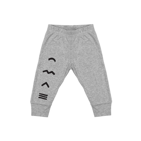 BABY RIB ADVENTURE LEGGING (HEATHER GREY)